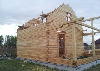 Фото процесса строительства бань с мансардой в Волгограде