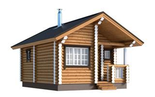 Проекты двухэтажных домов из бревна в Волгограде