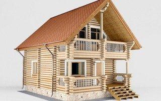 Проекты домов 5х5 из оцилиндрованного бревна в Волгограде