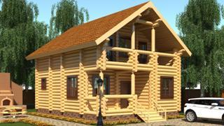 Проекты домов 5х6 из оцилиндрованного бревна в Волгограде