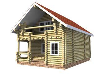 Проекты домов 6х6 из оцилиндрованного бревна в Волгограде