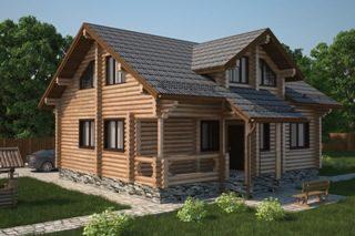Проекты домов 6х7 из оцилиндрованного бревна в Волгограде