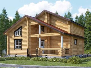 Проекты домов 6х9 из оцилиндрованного бревна в Волгограде
