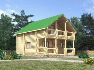 Проекты домов 7х7 из оцилиндрованного бревна в Волгограде