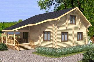Проекты домов 7х8 из оцилиндрованного бревна в Волгограде
