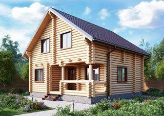 Проекты домов 7х9 из оцилиндрованного бревна в Волгограде