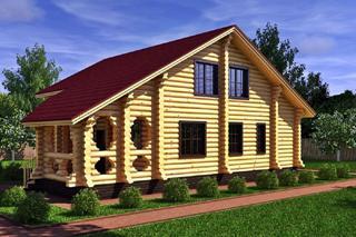 Проекты домов 8х8 из оцилиндрованного бревна в Волгограде