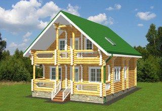 Проекты домов 8х9 из оцилиндрованного бревна в Волгограде