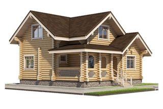 Проекты домов 8х10 из оцилиндрованного бревна в Волгограде