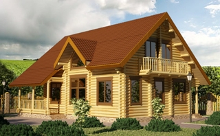 Проекты домов 9х9 из оцилиндрованного бревна в Волгограде
