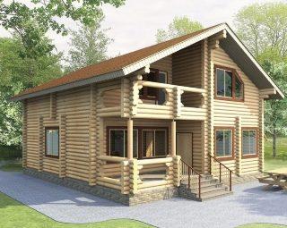 Проекты домов 9х10 из оцилиндрованного бревна в Волгограде