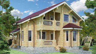 Проекты домов 9х12 из оцилиндрованного бревна в Волгограде