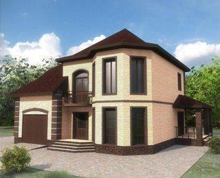 Проекты двухэтажных домов из кирпича в Волгограде