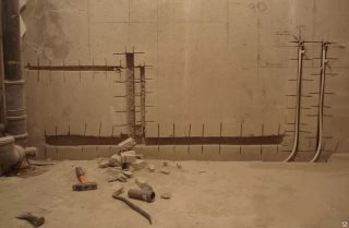 Фото процесса Штробление стен в Волгограде