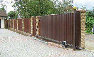 Откатные ворота под ключ в Волгограде