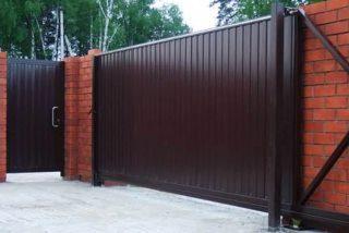 Металлические откатные ворота в Волгограде