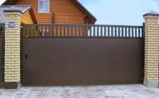 Фото процесса производства Металлические откатные ворота в Волгограде