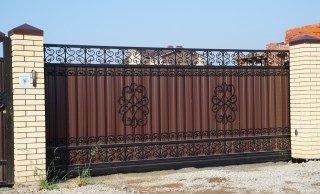 Кованые ворота откатные в Волгограде