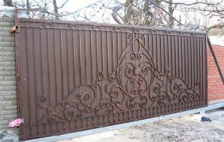 Фото процесса производства Кованые ворота откатные в Волгограде