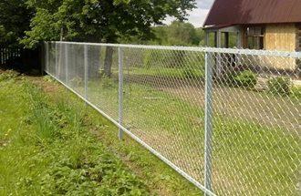 Забор из сетки рабицы в Волгограде