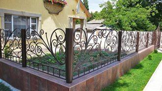 Кованые заборы с установкой в Волгограде