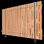 Заборы из деревянного штакетника